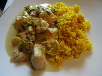 Hähnchen-Lauch-Pfanne mit Kurkuma-Reis - Rezept - Bild Nr. 2