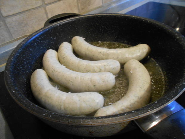 Spinat-Bratwurst ein schnelles Abendessen - Rezept - Bild Nr. 6