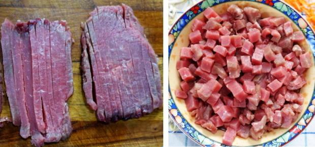 Zweigesichtige Nudeln mit Schweinefleisch - Rezept - Bild Nr. 4