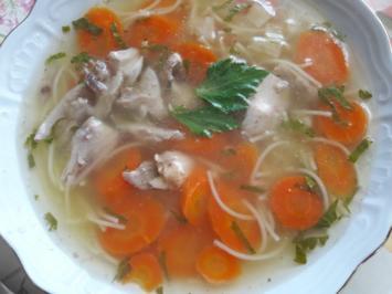 Rezept: Hühnerbrühe - Nudelsuppe