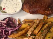 Barramundi Fish and Chips mit Sauce Tartare und Cole Slaw - Rezept - Bild Nr. 2