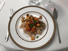 krosses Barramundifilet mit Ratatouille Gemüse und Weißweinrisotto - Rezept - Bild Nr. 2