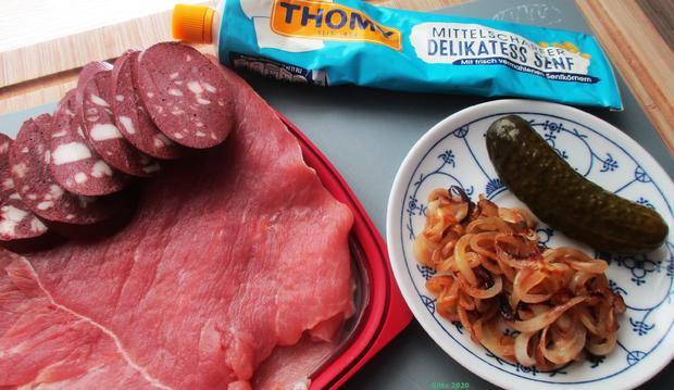 Gefülltes Schnitzel Kölsche Art mit Gemüse und Bratkartoffeln - Rezept - Bild Nr. 4