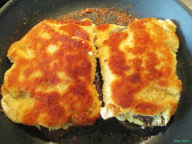 Gefülltes Schnitzel Kölsche Art mit Gemüse und Bratkartoffeln - Rezept - Bild Nr. 6