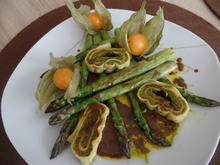 Spargel mit Gemüsemaultaschen in Limetten -Thymian-Dressing - Rezept - Bild Nr. 10341