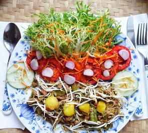 Scharfes Rindfleisch, Cap Cay mit Ananas und Frisée-Salat - Rezept - Bild Nr. 2
