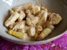 Gerösteter Blumenkohl und Spargel mit Käse-Nuss-Soße - Rezept - Bild Nr. 2