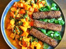 Knusprige Tofu-Sticks mit Gemüse-Kokos-Curry - Rezept - Bild Nr. 2