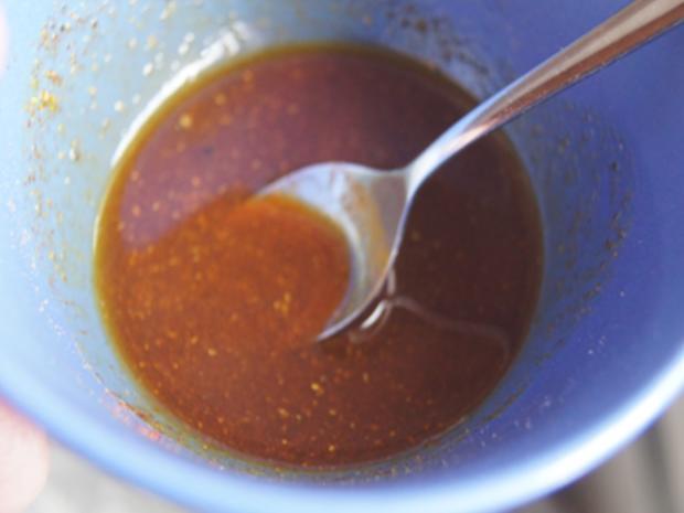 Gebratene Hähnchenkeulen mit Zucchini Spaghetti - Rezept - Bild Nr. 6