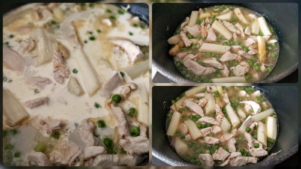 Hühnerfrikassee mit weißem Spargel - Rezept - Bild Nr. 13