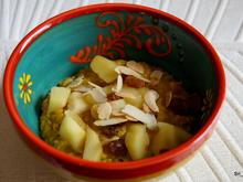 Frühstück: Kurkuma-Porridge mit gebratenen Äpfeln - Rezept - Bild Nr. 2