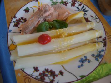 Lachsforelle mit Spargel und Zitronen-Butter - Rezept - Bild Nr. 2