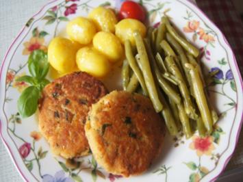 Lachsbuletten mit Buschbohnen, Baby-Pellkartoffeln und Zitronen-Butter - Rezept - Bild Nr. 2