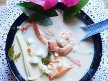 Thailändische Garnelensuppe mit Kokosmilch – Tom Gung Gati Sod - Rezept - Bild Nr. 2
