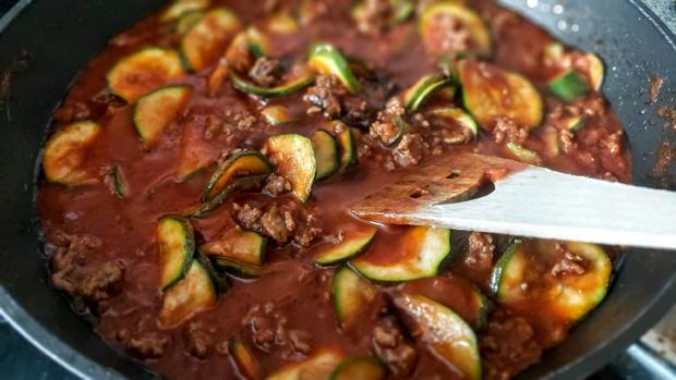 Hackfleisch - Zucchini - Schupfnudelpfanne - Rezept - Bild Nr. 13