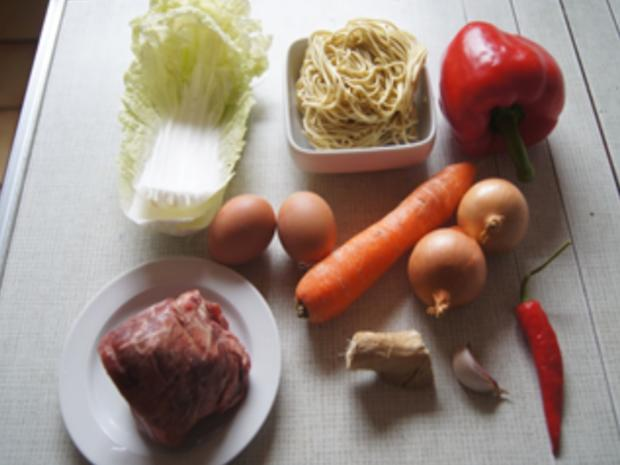 Asiatische Nudeln mit Rindfleisch - Rezept - Bild Nr. 3
