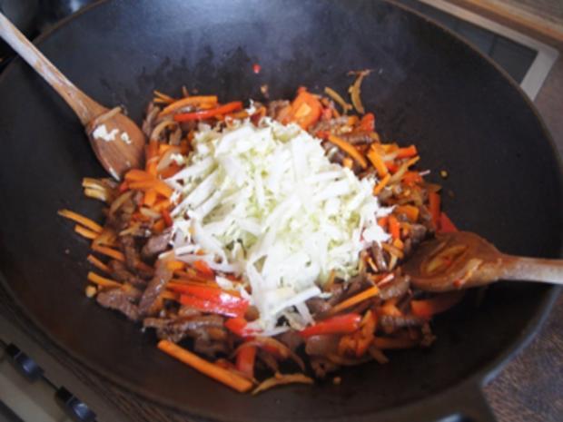 Asiatische Nudeln mit Rindfleisch - Rezept - Bild Nr. 10414