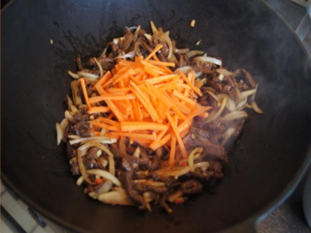 Asiatische Nudeln mit Rindfleisch - Rezept - Bild Nr. 10411