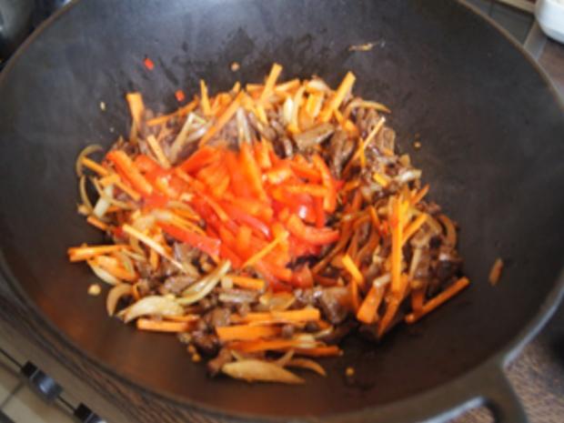 Asiatische Nudeln mit Rindfleisch - Rezept - Bild Nr. 10413