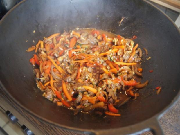 Asiatische Nudeln mit Rindfleisch - Rezept - Bild Nr. 10417