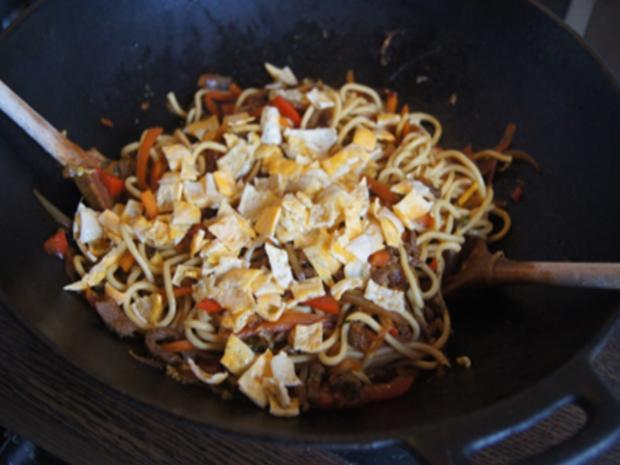 Asiatische Nudeln mit Rindfleisch - Rezept - Bild Nr. 10420