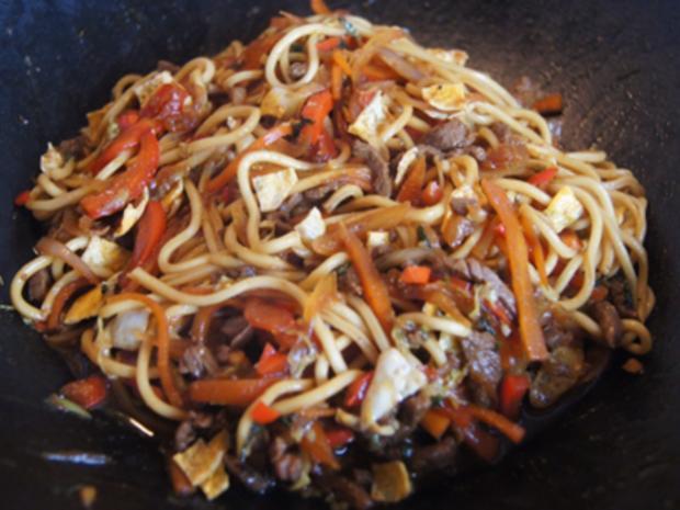 Asiatische Nudeln mit Rindfleisch - Rezept - Bild Nr. 10421