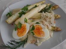 Spargel mit Frischkäsesauce und wachsweichem Ei - Rezept - Bild Nr. 10376
