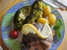 Lachsforelle mit Brokkoli und Baby-Pellkartoffeln - Rezept - Bild Nr. 2