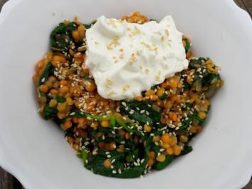 Rezept: Linsen mit Spinat