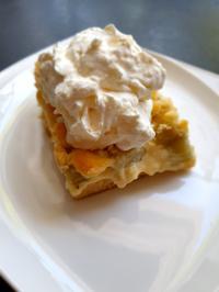 Rhabarber Blechkuchen mit Pudding - Rezept - Bild Nr. 10384