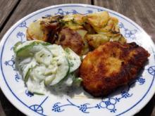 Schnitzel mit Bratkartoffeln - Rezept - Bild Nr. 2