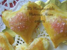 Mit Marzipan gefüllte Muttertags Herzen - Rezept - Bild Nr. 10409