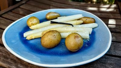 Spargel & Kartoffeln mit Vanille - Butter - Sauce - Rezept - Bild Nr. 2