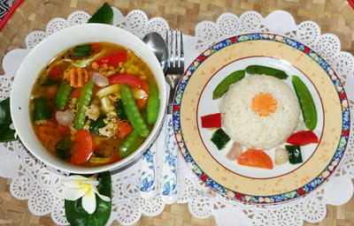 Balinesische Hühnersuppe mit Reis - Rezept - Bild Nr. 2