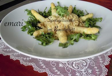 Spargelrisotto im Rucolabett - Rezept - Bild Nr. 2