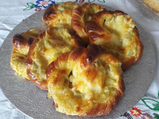 Mit Rhabarber gefüllte Puddingbrezeln - Rezept - Bild Nr. 29