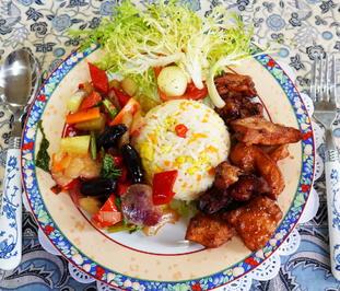 Rindfleisch mit Melonen-Cap Cay und Mandarinreis - Rezept - Bild Nr. 2