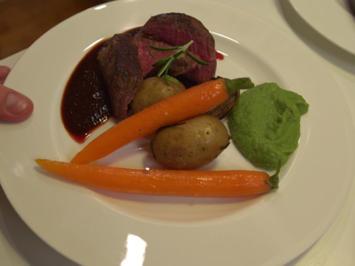 Rinderfilet an Rotweinsoße mit vegetarischer Alternative - Rezept - Bild Nr. 2