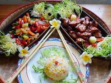 Schweinefleisch mit Melonen-Cap Cay und himmlischer Mandarin Blütenreis - Rezept - Bild Nr. 2