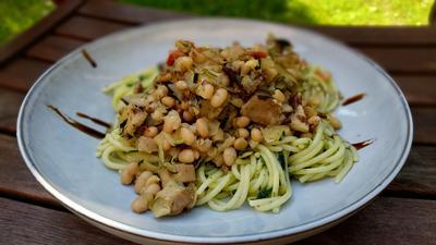 Rezept: Mediterrane  Spaghetti