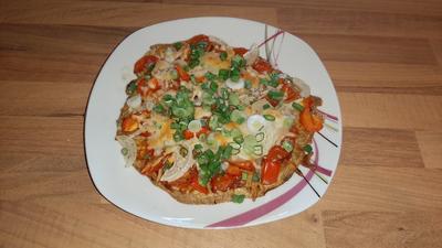 Pizza mit Thunfischboden - Rezept - Bild Nr. 2