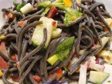 Spiegelei; Pasta; Salat - Rezept - Bild Nr. 10420