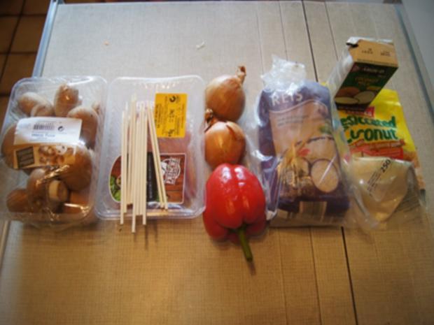 Puten-Gemüse-Spieße mit Ingwer-Möhren-Salat und Kokosreis - Rezept - Bild Nr. 3