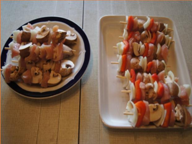 Puten-Gemüse-Spieße mit Ingwer-Möhren-Salat und Kokosreis - Rezept - Bild Nr. 6