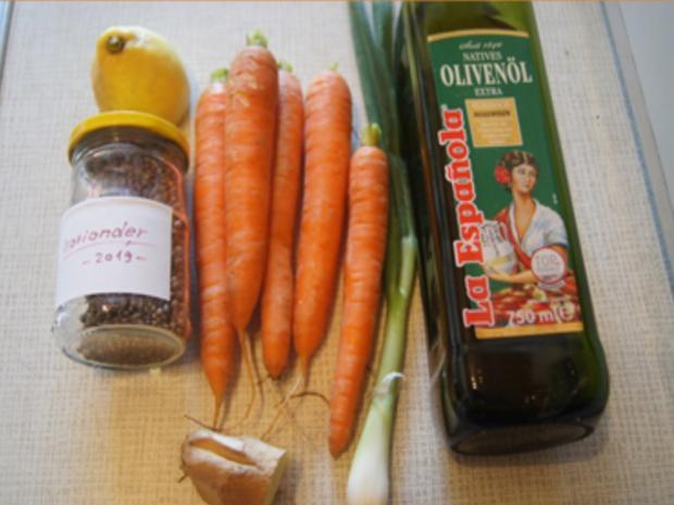 Puten-Gemüse-Spieße mit Ingwer-Möhren-Salat und Kokosreis - Rezept - Bild Nr. 10