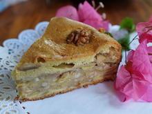Saftiger, gedeckter Apfelkuchen mit Nüssen - Rezept - Bild Nr. 2