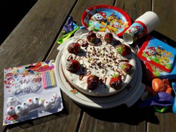 Joghurtstracciatella-Torte und Erdbeer-Torte - Rezept - Bild Nr. 2