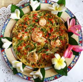 Omelette mit Pilzen und Garnelen - Rezept - Bild Nr. 2