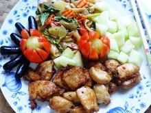 Bunte Nudeln mit Honigmelone und Hühnerfleisch - Rezept - Bild Nr. 2