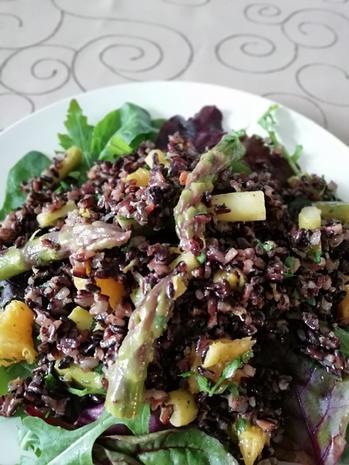 Reissalat mit grünen Spargel - Rezept - Bild Nr. 2